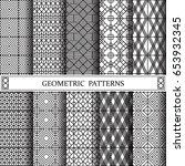 geometric vector pattern... | Shutterstock .eps vector #653932345