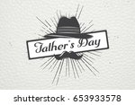 happy father's day greeting.... | Shutterstock . vector #653933578