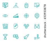 set of 16 strategy outline... | Shutterstock .eps vector #653933878