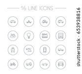 set of 16 shipping outline... | Shutterstock .eps vector #653938816