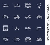 set of 16 transport outline... | Shutterstock .eps vector #653939686