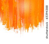 orange paint splashes... | Shutterstock .eps vector #65394388