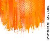 orange paint splashes... | Shutterstock .eps vector #65394388