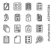 form icons set. set of 16 form... | Shutterstock .eps vector #653945386