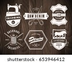 tailoring denim labels. set of... | Shutterstock .eps vector #653946412