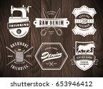 tailoring denim labels. set of... | Shutterstock .eps vector #653946412