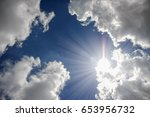 sunlight above white clouds and ...   Shutterstock . vector #653956732