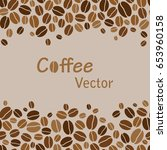 vector background with coffee... | Shutterstock .eps vector #653960158