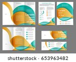 set of color brochure template... | Shutterstock .eps vector #653963482