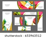 set of web banner templates for ... | Shutterstock .eps vector #653963512