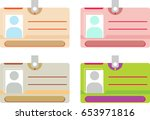 photo id card  identity card... | Shutterstock .eps vector #653971816