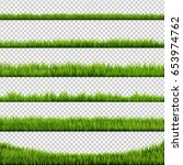 grass border big set  vector... | Shutterstock .eps vector #653974762