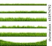 grass frame   vector... | Shutterstock .eps vector #653974792