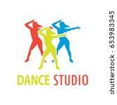 dance logo for dance school ... | Shutterstock .eps vector #653983345