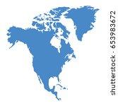 america map | Shutterstock .eps vector #653983672