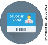 student card vector icon  | Shutterstock .eps vector #653984926