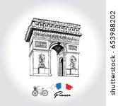 paris. triumphal arch | Shutterstock .eps vector #653988202