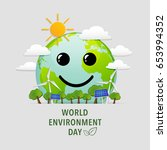 world environment day with... | Shutterstock .eps vector #653994352