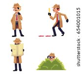 detective character with... | Shutterstock .eps vector #654001015