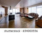living room interior in modern... | Shutterstock . vector #654003556