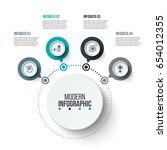 abstract infographics number... | Shutterstock .eps vector #654012355