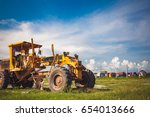 grader is a construction... | Shutterstock . vector #654013666