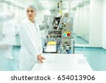 medicine factory worker or... | Shutterstock . vector #654013906