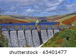 Craig Goch Dam In Autumn.  Ela...