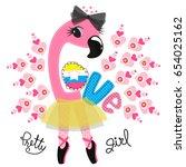 cute peacock cartoon with heart ...   Shutterstock .eps vector #654025162