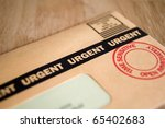 Urgent, Time Sensitive, Junk mail or bill - stock photo