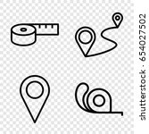 distance icons set. set of 4... | Shutterstock .eps vector #654027502