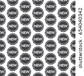 pattern background new sign icon | Shutterstock .eps vector #654040342