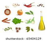 group of spices. vector... | Shutterstock .eps vector #65404129
