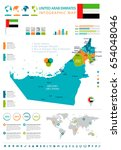 united arab emirates info... | Shutterstock .eps vector #654048046