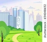 vector illustration of green... | Shutterstock .eps vector #654048652