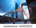 bangkok cityscape  business... | Shutterstock . vector #654052015