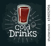 cup of cola. vector color flat... | Shutterstock .eps vector #654052906