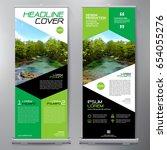 business roll up. standee... | Shutterstock .eps vector #654055276