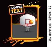 basketball goal orange... | Shutterstock .eps vector #65406412