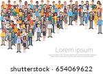 group of business people big... | Shutterstock .eps vector #654069622