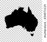 australia map isolated on... | Shutterstock .eps vector #654071125