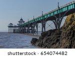clevedon pier | Shutterstock . vector #654074482