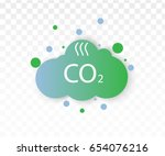 co2 emissions icon cloud vector ... | Shutterstock .eps vector #654076216
