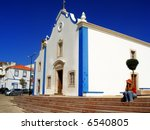 a white and blue old church.... | Shutterstock . vector #6540805
