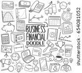 business financial  doodle... | Shutterstock .eps vector #654081052