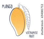 mango icon. vector illustration ... | Shutterstock .eps vector #654081712