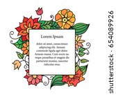 colorful zentangle style floral ...   Shutterstock .eps vector #654089926