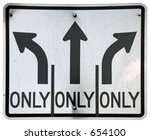 Left Straight Right Turn Lanes...