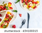 summer snacks. food for a party.... | Shutterstock . vector #654100315