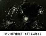 screen broken tablet computer.... | Shutterstock . vector #654110668